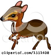 Clipart Of A Cute Mouse Deer Royalty Free Vector Illustration by BNP Design Studio