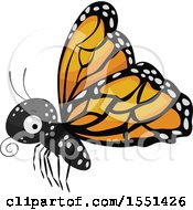 Poster, Art Print Of Flying Monarch Butterfly