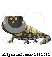 Clipart Of A Cute Salamander Royalty Free Vector Illustration