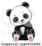 Clipart Of A Cute Panda Cub Royalty Free Vector Illustration