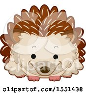 Clipart Of A Cute Hedgehog Royalty Free Vector Illustration by BNP Design Studio