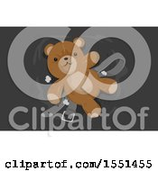 Clipart Of A Torn Teddy Bear And Belt Royalty Free Vector Illustration