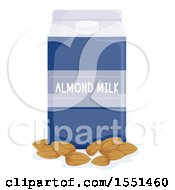 Carton Of Almond Milk And Nuts