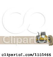 Clipart Of A Bulldozer Clearing A Path Under Text Space Royalty Free Vector Illustration