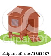 Clipart Of A Small Chicken Coop Royalty Free Vector Illustration