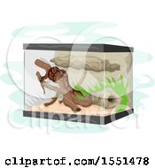Clipart Of A Snake In A Terrarium Royalty Free Vector Illustration by BNP Design Studio