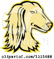 Clipart Of A Persian Greyhound Dog Mascot Head Royalty Free Vector Illustration