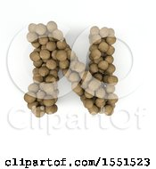 Clipart Of A 3d Wood Sphere Capital Letter N On A White Background Royalty Free Illustration by KJ Pargeter