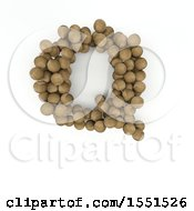 Clipart Of A 3d Wood Sphere Capital Letter Q On A White Background Royalty Free Illustration by KJ Pargeter