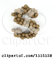 Clipart Of A 3d Wood Sphere Capital Letter S On A White Background Royalty Free Illustration by KJ Pargeter