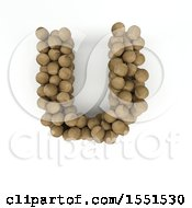 Clipart Of A 3d Wood Sphere Capital Letter U On A White Background Royalty Free Illustration by KJ Pargeter