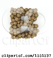 Clipart Of A 3d Wood Sphere Capital Letter B On A White Background Royalty Free Illustration by KJ Pargeter