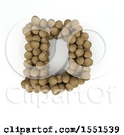 Clipart Of A 3d Wood Sphere Capital Letter D On A White Background Royalty Free Illustration by KJ Pargeter