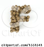 Clipart Of A 3d Wood Sphere Capital Letter F On A White Background Royalty Free Illustration by KJ Pargeter