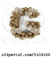 3d Wood Sphere Capital Letter G On A White Background