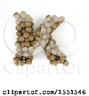 Clipart Of A 3d Wood Sphere Capital Letter K On A White Background Royalty Free Illustration by KJ Pargeter