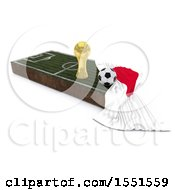 Poster, Art Print Of 3d Soccer Ball Trophy Cup Japan Flag And Pitch On A Shaded Background