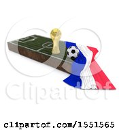 3d Soccer Ball Trophy Cup Netherlands Flag And Pitch On A Shaded Background