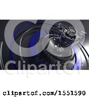 Clipart Of A 3d Trophy Cup Background Royalty Free Illustration
