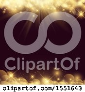 Clipart Of A Golden Flares Background Royalty Free Vector Illustration