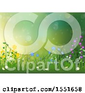 Poster, Art Print Of Spring Background Of Grass And Wildflowers