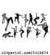 Silhouetted Dancers