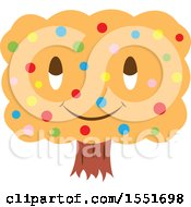Clipart Of A Happy Orange Tree Character Royalty Free Vector Illustration by Cherie Reve