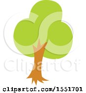 Clipart Of A Green Tree Royalty Free Vector Illustration by Cherie Reve