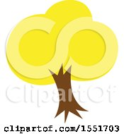Clipart Of A Yellow Tree Royalty Free Vector Illustration by Cherie Reve
