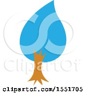 Clipart Of A Blue Tree Royalty Free Vector Illustration by Cherie Reve