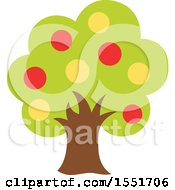 Clipart Of A Fruit Tree Royalty Free Vector Illustration by Cherie Reve