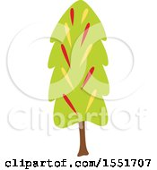 Clipart Of A Tree Royalty Free Vector Illustration by Cherie Reve