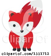 Clipart Of A Cute Fox Royalty Free Vector Illustration by Cherie Reve
