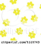Clipart Of A Yellow Flower Pattern Royalty Free Vector Illustration