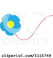 Clipart Of A Flower Balloon Royalty Free Vector Illustration by Cherie Reve