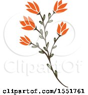 Clipart Of A Flower Royalty Free Vector Illustration