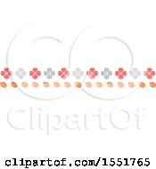 Poster, Art Print Of Flower And Autumn Leaves Border