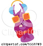 Clipart Of A Cute Funky Llama Wearing Sunglasses Royalty Free Vector Illustration by Cherie Reve