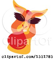 Clipart Of A Funky Llama Royalty Free Vector Illustration by Cherie Reve