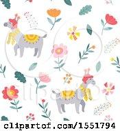 Spring Time Llama Pattern