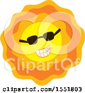 Clipart Of A Happy Sun Wearing Sunglasses Royalty Free Vector Illustration by Cherie Reve