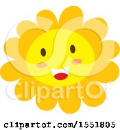 Clipart Of A Happy Sun Or Flower Royalty Free Vector Illustration by Cherie Reve