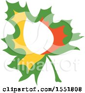Clipart Of An Autumn Maple Leaf Royalty Free Vector Illustration by Cherie Reve