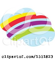 Clipart Of A Rainbow Cloud Royalty Free Vector Illustration