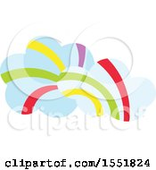 Clipart Of Rainbow Clouds Royalty Free Vector Illustration