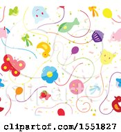 Clipart Of A Balloon Pattern Royalty Free Vector Illustration by Cherie Reve