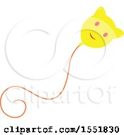 Clipart Of A Cat Balloon Royalty Free Vector Illustration by Cherie Reve