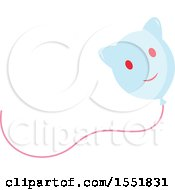 Clipart Of A Cat Balloon Royalty Free Vector Illustration