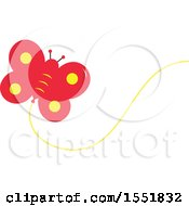 Clipart Of A Butterfly Balloon Royalty Free Vector Illustration
