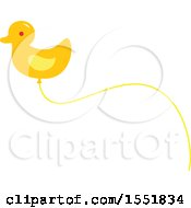 Clipart Of A Duck Balloon Royalty Free Vector Illustration